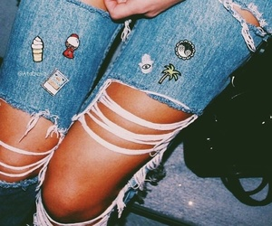 fashion, patch, and denim image