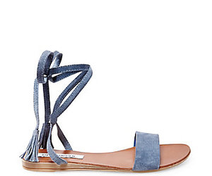 blue, sandals, and tie image