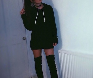 style, boots, and brunette image