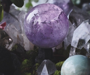 crystal, amethyst, and stone image