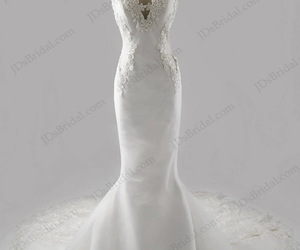 v neckline, bridal gown, and bridal dress image