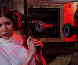 carrie fisher, princess, and star wars image