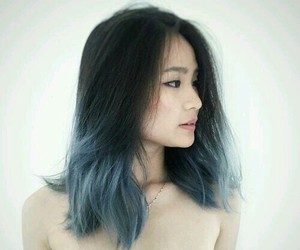 blue, ombre hair, and azul image