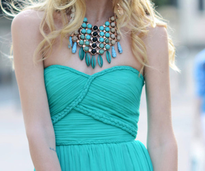 fashion, turquoise, and dress image