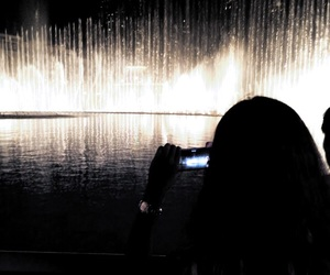 camera, fountain, and photo image