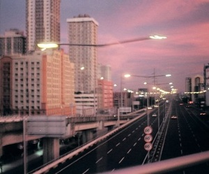 highway, outside, and sunset image
