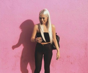 lottie tomlinson, girl, and pink image
