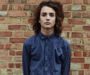 boy, long hair, and wavy hair image