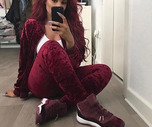 outfit, hair, and style image