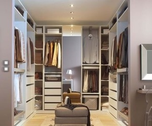 bedroom, modern, and clothes image