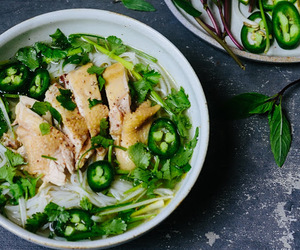 Chicken, noodles, and pho image