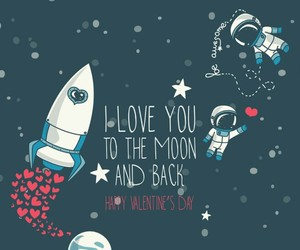 love, background, and moon image