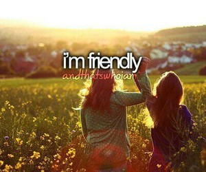 friendly, quotes, and friends image