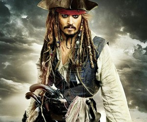 jack sparrow, captain, and johnny depp image