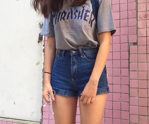 girl, outfit, and thrasher image