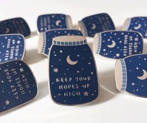 pins, stars, and blue image