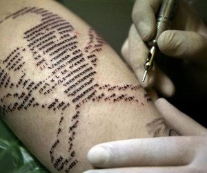 tattoo, skull tattoo, and computer characters image