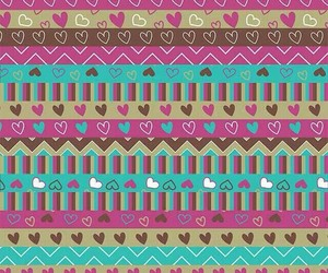 hearts, pink and brown, and pattern image