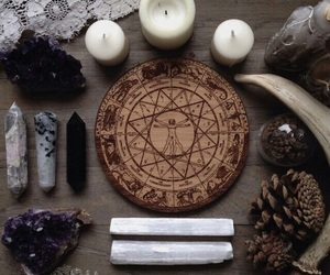 moon, spells, and wiccan image