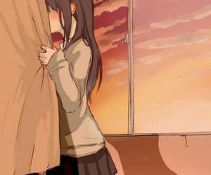 anime, anime girl, and kiss image