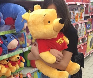 girl, bear, and toys image