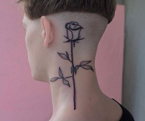 rose, tattoo, and boy image