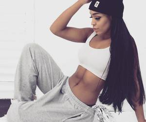 girl, hip hop, and style image