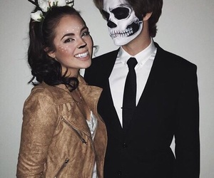 Halloween and couple image