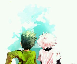 gon, killua, and hunter x hunter image