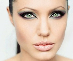 Angelina Jolie, make up, and eyes image