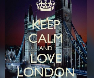 london, love, and keep calm image