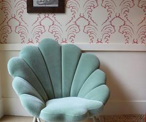 chair, mermaid, and vintage image