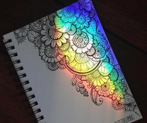 rainbow, art, and mandala image