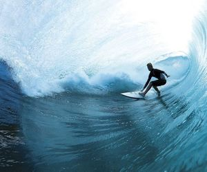 blue, surf, and water image