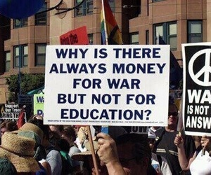 war, quotes, and education image