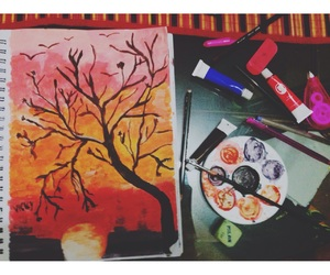 acrylic, afternoon, and pintura image