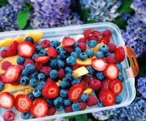 fruit, girl, and food image