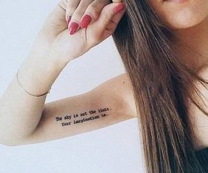 frasi, tatuaggio, and girl image