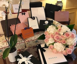 luxury, shopping, and gucci image