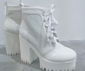 shoes, white, and pale image