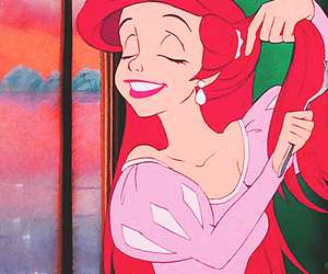 ariel, disney, and girl image