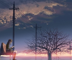 anime, 5 centimeters per second, and sky image