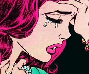 cry, sad, and pop art image