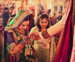bride, indian, and wedding image