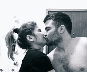 b&w, intense, and kiss image