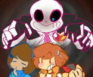 mystery skulls and undertale image