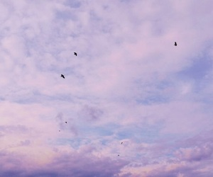 sky, cloud, and purple image
