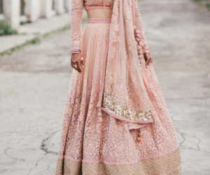 dress, indian, and wedding image