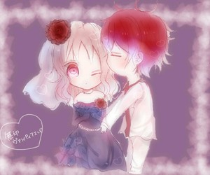 anime, couple, and diabolik lovers image