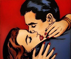 couple, pop art, and vintage image